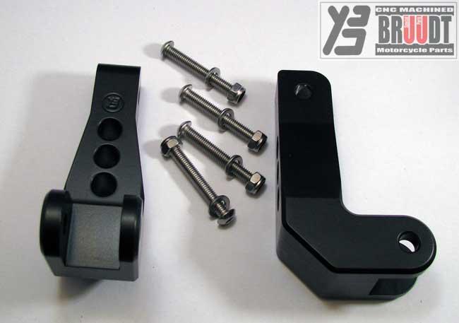 Rear Foot Pegs Foot Rests Pedal Kit for Yamaha FZ1//FZ6//FZ6R /& Fazer 700 FJR1300