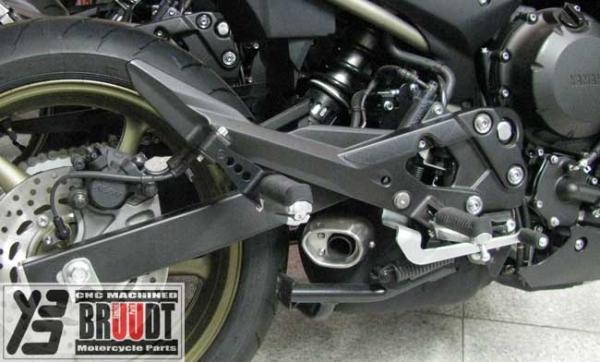 Racing Fu/ßrasten vorne passend f/ür Yamaha XJ6 DIVERSION F ABS SERIENM/ÄSSIG RJ199//RJ22 2010 gold